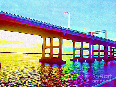 Fort Myers Bridge Poster by Chris Andruskiewicz