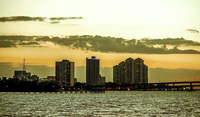 Fort Myers Skyline Poster by Michael Frizzell