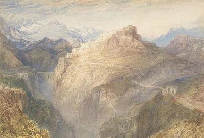 Fort Of L'essillon, Val De La Maurienne, France Poster by Joseph Mallord William Turner