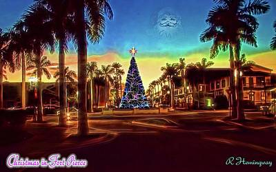 Fort Pierce Christmas Card Poster