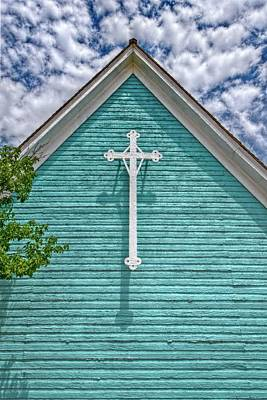 Fort Stockton Church Poster by Linda Unger