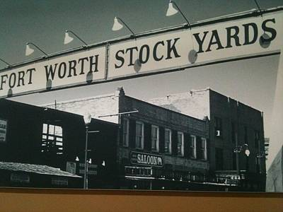 Fort Worth Stockyards Poster