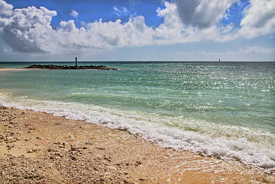 Poster featuring the photograph Fort Zachary Taylor Historic State Park Beach In Key West by Bob Slitzan