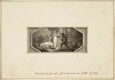 Fortitude Of Harmonia Poster by Edward Francis Burney