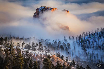 Fortress In The Clouds Poster by Peter Coskun