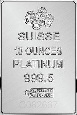 Fortuna Suisse Minted Platinum Bar - Reverse Poster