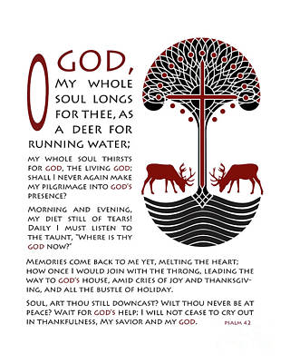Forty Second Psalm Poster