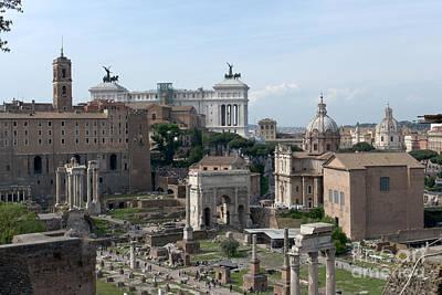 Forum Romanum Poster by Fabrizio Ruggeri