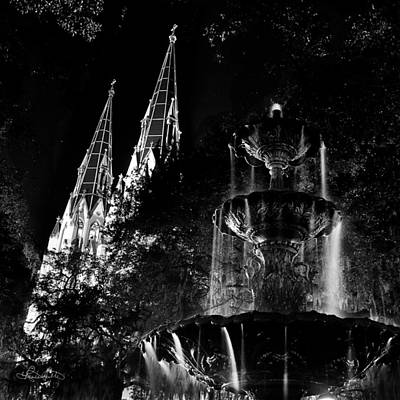 Fountain And Spires Poster by Renee Sullivan
