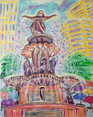 Fountain Square  Cincinnati  Ohio Poster