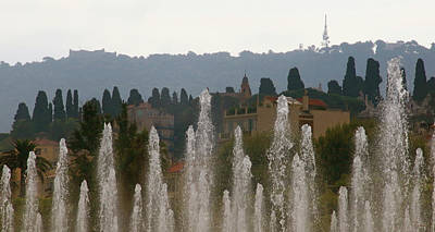 Poster featuring the photograph Fountains At Dawn by Rasma Bertz