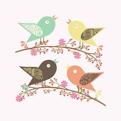 Four Birds Poster