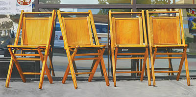 Four Chairs Poster by Michael Ward