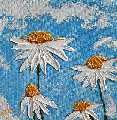 Four Daisies Poster