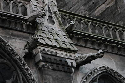 Poster featuring the photograph Four Gargoyles On Notre Dame North by Christopher Kirby