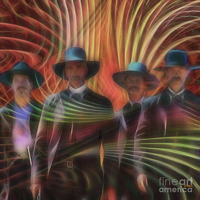 Four Horsemen - Square Version Poster by John Robert Beck
