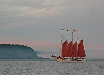 Four-masted Schooner The Margaret Todd Poster