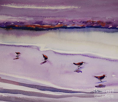 Four Sandpipers Poster