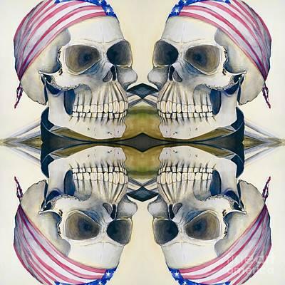 Four Skulls Poster