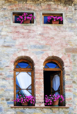Four Windows Poster by Marilyn Hunt