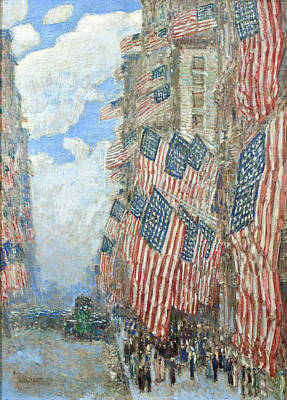 Poster featuring the painting Fourth Of July, 1916 by Frederick Childe Hassam