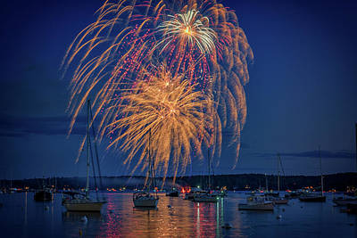 Fourth Of July In Boothbay Harbor Poster