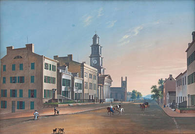 Poster featuring the painting Fourth Street. West From Vine by John Caspar Wild