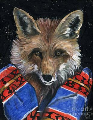 Fox Medicine Poster by J W Baker