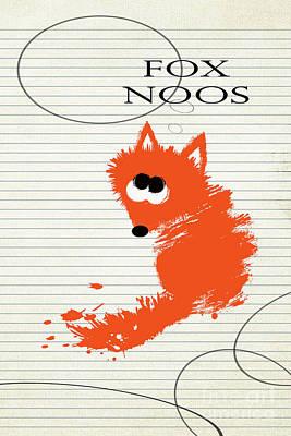 Fox Noos Poster by Zaira Dzhaubaeva
