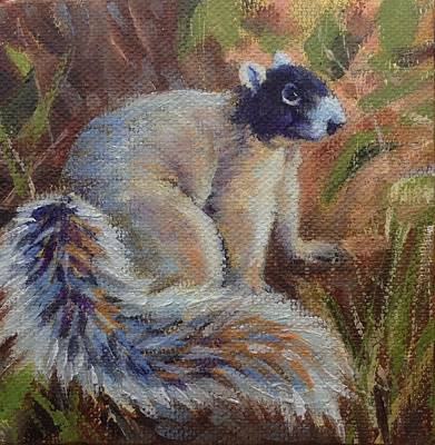 Poster featuring the painting Fox Squirrel by Pam Talley