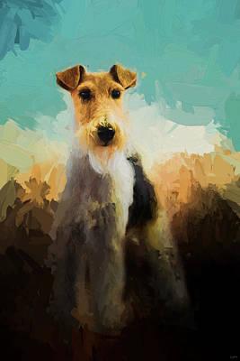 Fox Terrier On Alert Poster