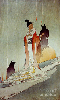 Poster featuring the photograph Fox Woman 1912 by Padre Art