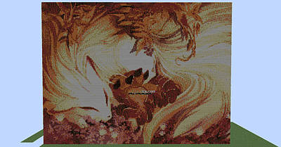 Foxes In The Leaves Poster