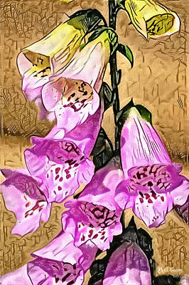 Foxglove Watercolor Poster by Bill Cannon