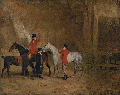 Foxhunting Scene Poster