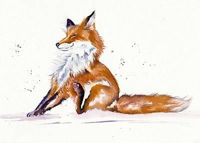 Foxy Flea Magnet Poster