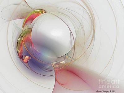 Fractal Abstract V8 - Elegance 2016 Poster by Michael Geraghty