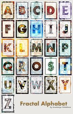 Fractal - Alphabet Poster by Anastasiya Malakhova