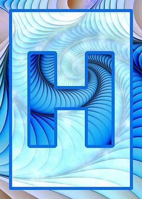 Fractal - Alphabet - H Is For Hypnosis Poster by Anastasiya Malakhova