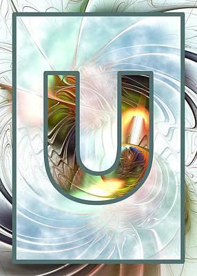 Fractal - Alphabet - U Is For Unity Poster by Anastasiya Malakhova