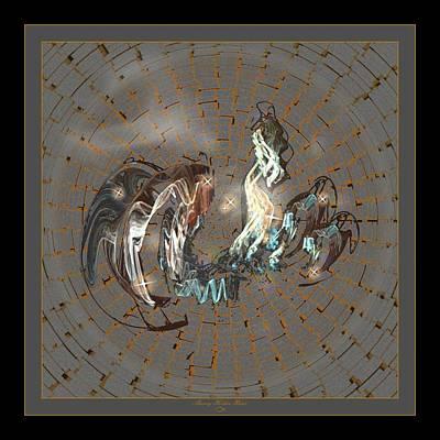Fractal Flying Dragon I Poster