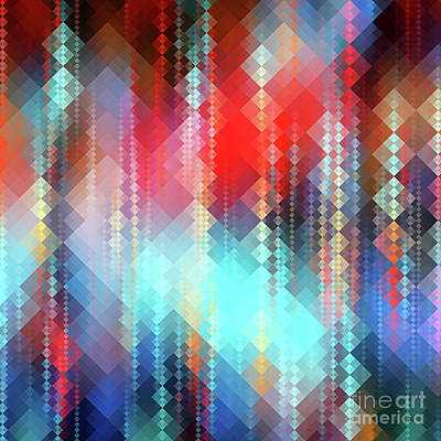Fractal Pixels Poster