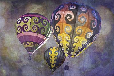 Fractal Trio Poster by Melinda Ledsome