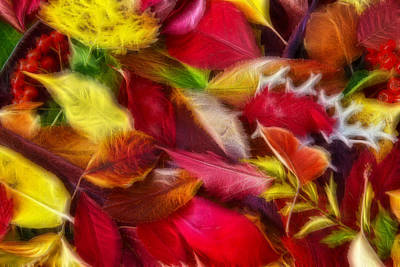 Poster featuring the photograph Fractalius Leaves by Shane Bechler