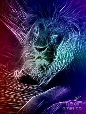 Fractalius Lion Poster by Zedi