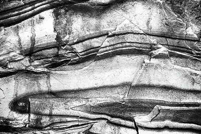 Poster featuring the photograph Fractured Rock by Onyonet  Photo Studios