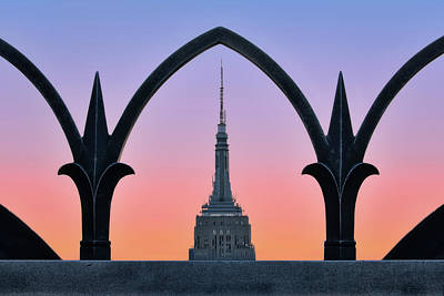 Framed Empire State Building Esb Nyc Poster by Susan Candelario