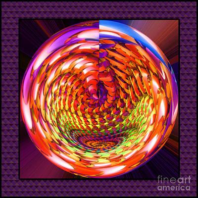 Framed Glass Spiral Poster by Gaspar Avila