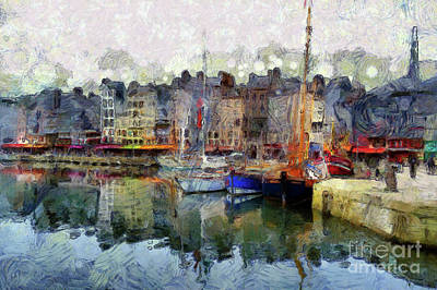 Poster featuring the photograph France Fishing Village by Claire Bull