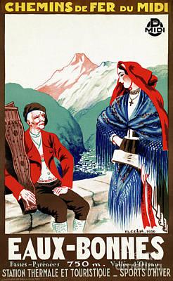 France Restored Vintage Travel Poster Poster by Carsten Reisinger